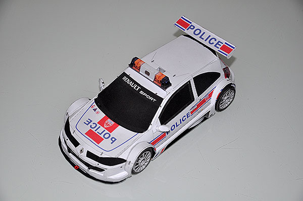 renault megane de police version sport papercraft. Black Bedroom Furniture Sets. Home Design Ideas
